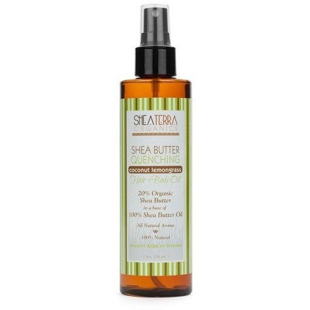 SheaTerra Organics - Shea Butter Quenching Hair + Body Oil (COCONUT LEMONGRASS)