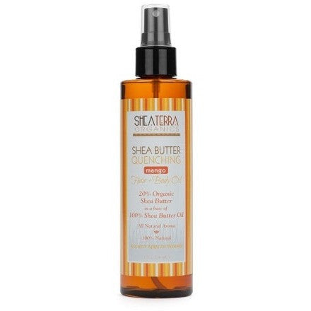 SheaTerra Organics - Shea Butter Quenching Hair + Body Oil (MANGO)