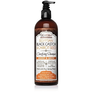 SheaTerra Organics - Egyptian Black Castor & Carrot Seed Natural Shampoo (Boost & Grow)