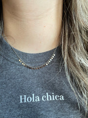 Shirt HOLA CHICA grijs Pinned by K