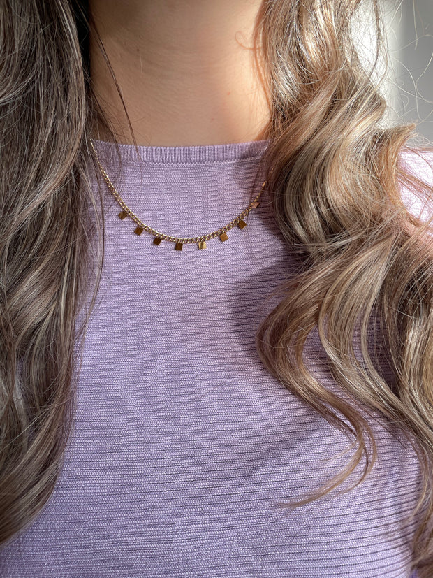 Necklace Squared goud