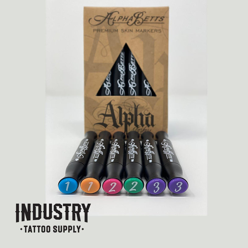 Alpha-Betts Freehand Stencil Markers (1 box of 6 markers)