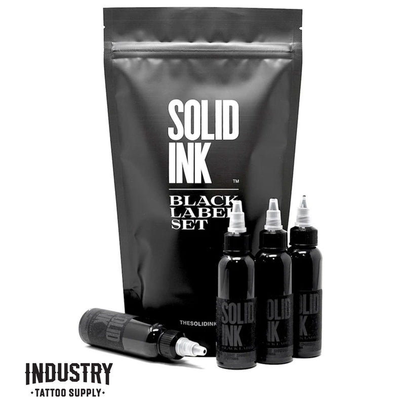 Solid Ink:  Black Label Grey Wash 2oz set (4 colours)