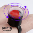 Cosmetic Ink Cup Holder Finger Ring — Black — Bag of 50