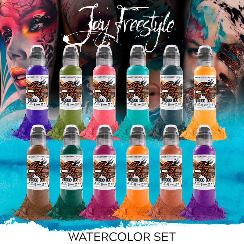 Jay Freestyle Water Colors Set 1oz - 16 bottles