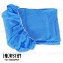 Elasticated Fitted Stretcher Sheet / Bed Sheets (100 sheets - Blue 101cm x 238cm)