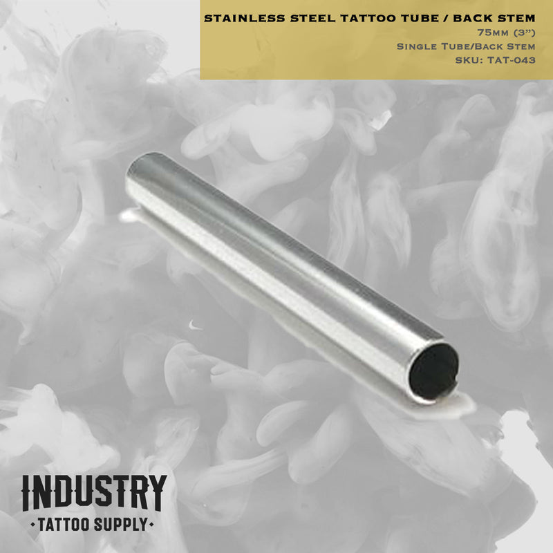"3"" Stainless Steel Tattoo Tube/Back Stem - 75mm - Tattoo Supplies"