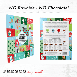 FRESCO's 2019 - Natural Christmas Advent Calendar for dogs!