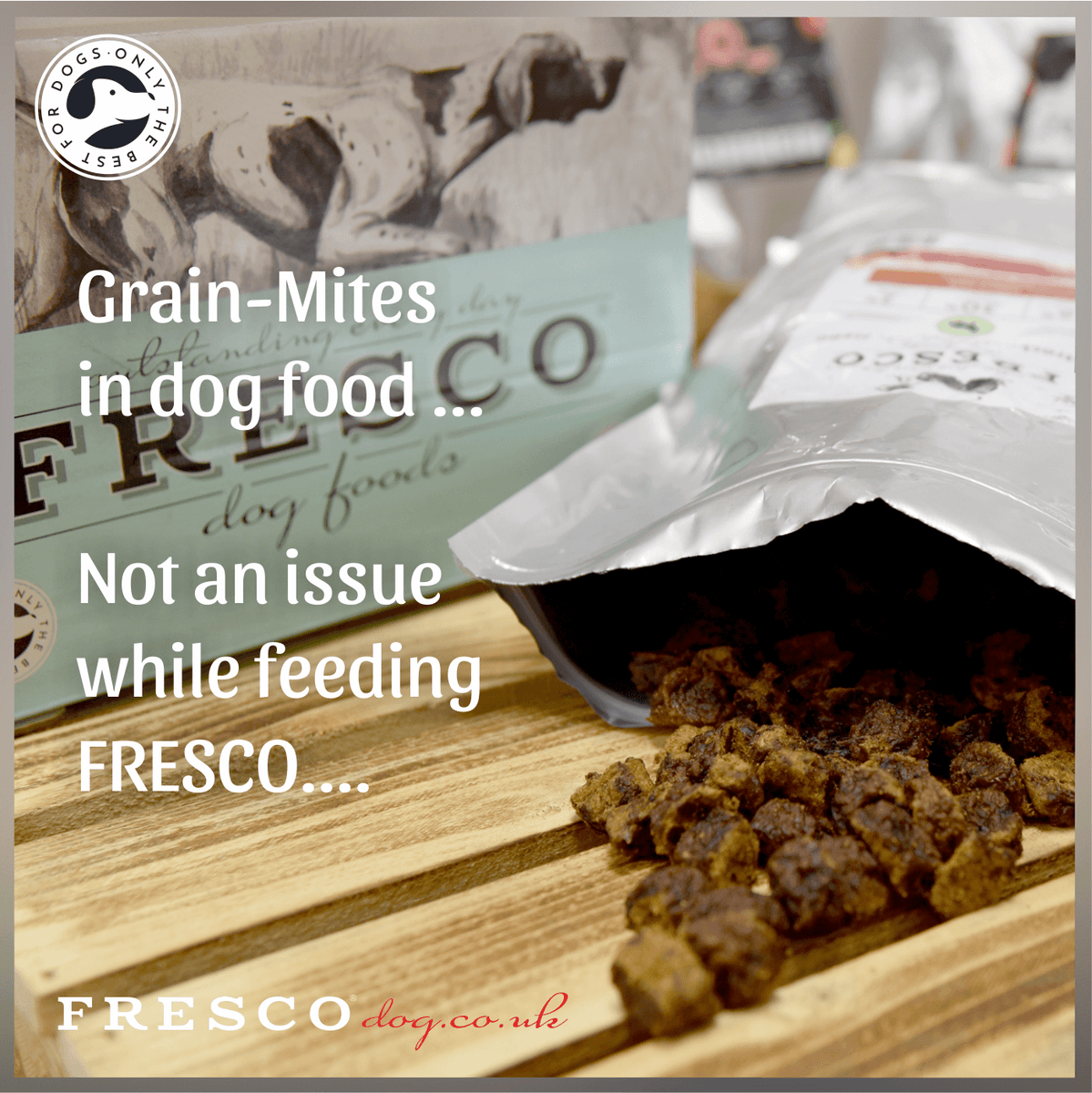 Grain-Mites in your dog food? Not an issue while feeding FRESCO!