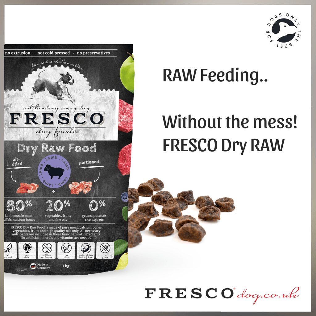 FRESCO Dry RAW Dog Food.....RAW Feeding without the mess!
