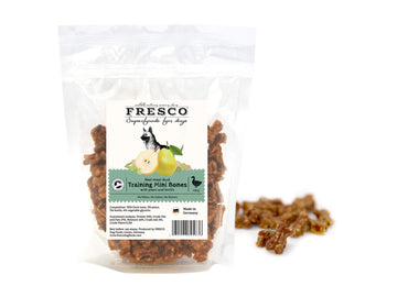 Bag of Mini Duck Training Bones with Pear & Lentil
