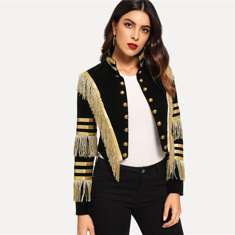 Metallic Gothic Fringe Jacket