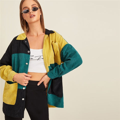 Multicolor Corduroy Jacket