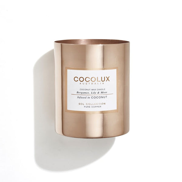 Cocolux Candle-Bergamot, Lily & Moss