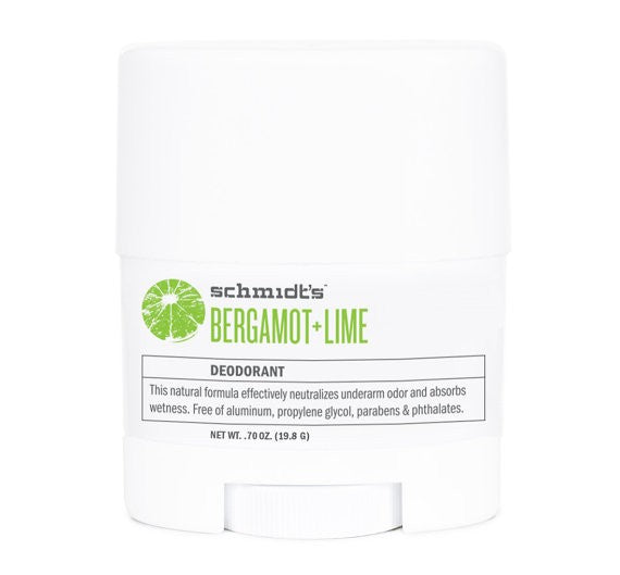 Schmidt's Travel DEO - Bergamot + Lime Stick