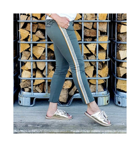 HAPPY- pantalon SHINE - KAKI (reste 1x27 = t.38)