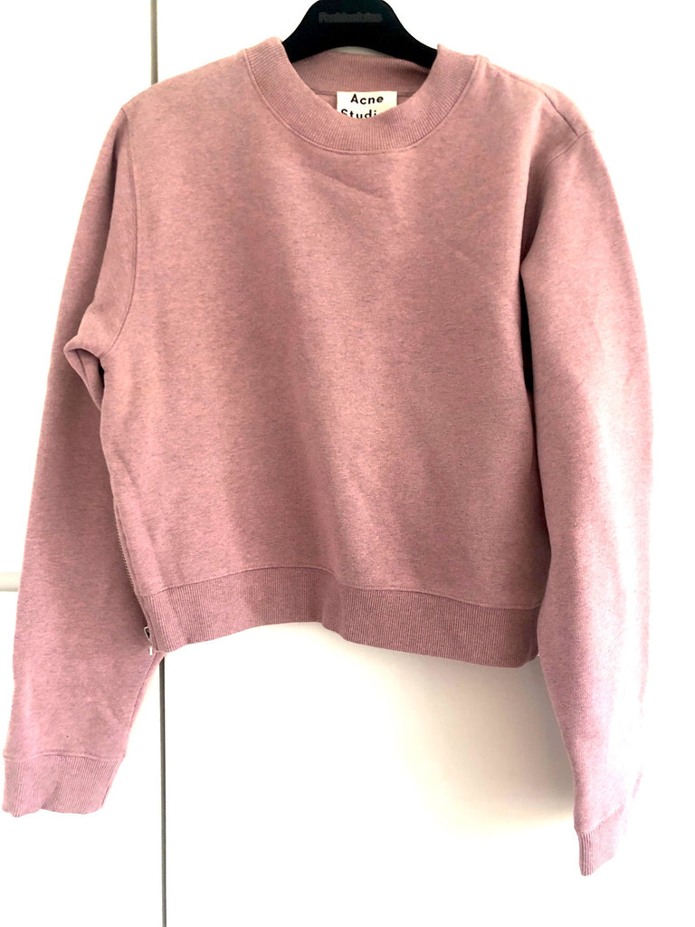 Acne sweat-shirt med lynlåse