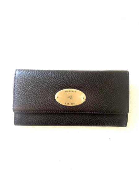 Mulberry Continental Wallet Chocolate