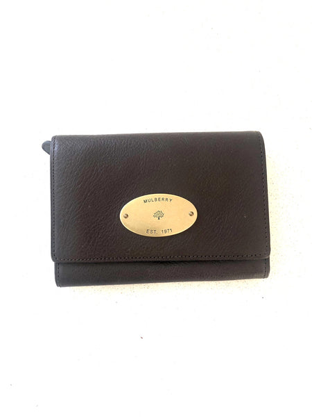 Mulberry French Purse Chocolate