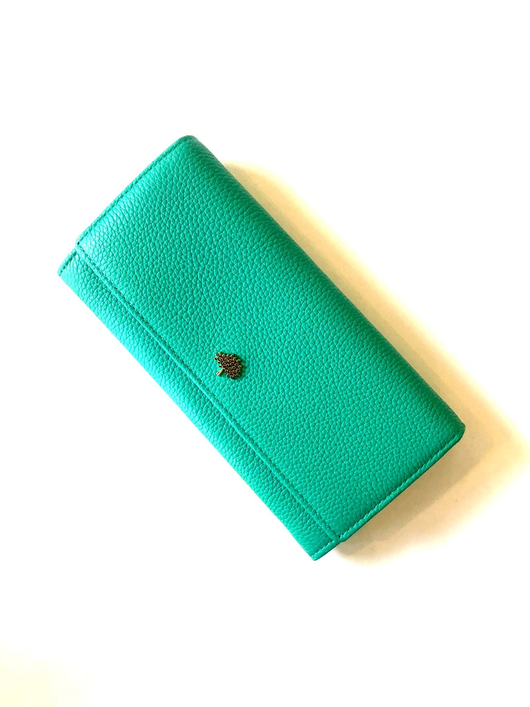 Mulberry Tree Continental Wallet Acqua Green