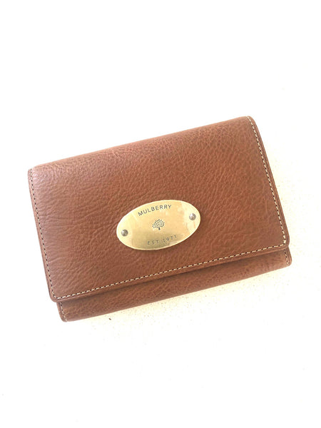 Mulberry French purse Oak