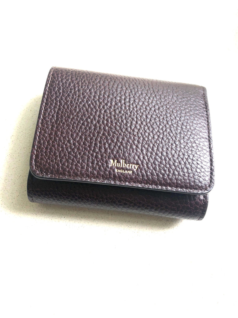 Mulberry Tri Fold Continental Wallet Oxblood