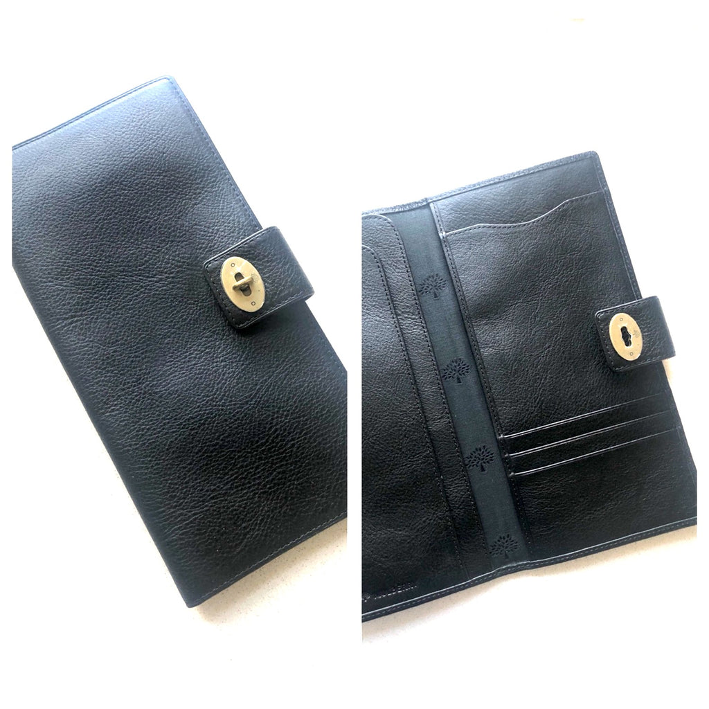 Mulberry Travel Wallet Black