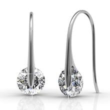 Crystal Earrings Embellished with Swarovski Crystals 18K 40%OFF