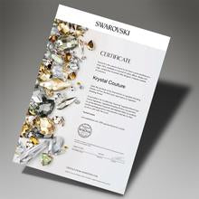 Load image into Gallery viewer, Stud Yellow  Embellished with Swarovski Crystals - 50% OFF  / 18K White Gold