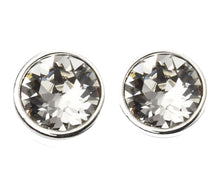 Load image into Gallery viewer, Stud Crystal Embellished with Swarovski Crystals - 50% OFF  / 18K White Gold Plated