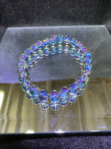 Tanzan Aura Quartz (Coated Crystal) Bracelet - 8mm