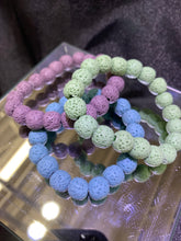 Load image into Gallery viewer, Lava Rock  Bracelet (dyed colours)
