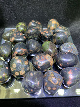 Load image into Gallery viewer, Red Snowflake Obsidian Tumbled