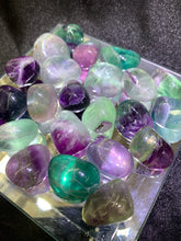 Load image into Gallery viewer, Rainbow Fluorite Tumbled
