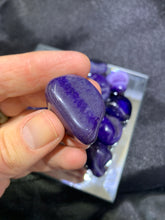 Load image into Gallery viewer, Agate Purple (Dyed) Tumbled - 4 Stones