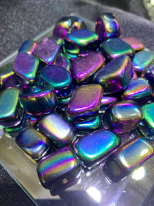 Rainbow Hematite (Coated Stone) Tumbled