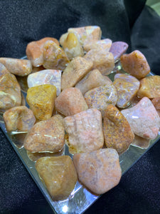 Pink Moss Tumbled - 4 Stones