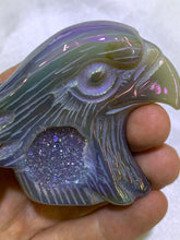 Load image into Gallery viewer, Rainbow Chalcedony Druzy Eagle