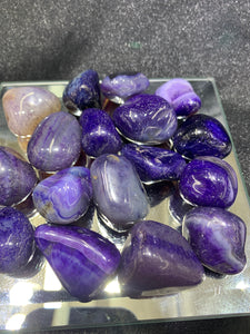 Agate Purple (Dyed) Tumbled - 4 Stones