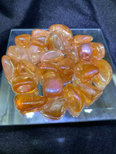 Load image into Gallery viewer, Tangerine Aura Quartz Tumbled