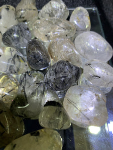 Tourmalinated Quartz Tumbled