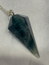 Load image into Gallery viewer, Blue Fluorite Pendulum (6 Sides)