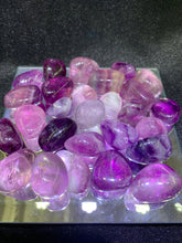 Load image into Gallery viewer, Purple Fluorite Tumbled