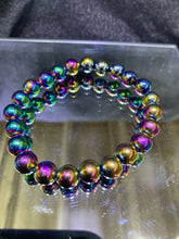 Load image into Gallery viewer, Rainbow Magnetic Hematite Bracelet