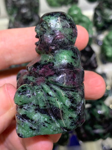 Ruby in Zoisite Laughing Buddha