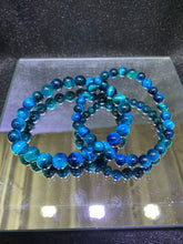 Load image into Gallery viewer, Tiger's Eye (Dyed Blue) Bracelet