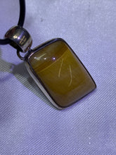 Load image into Gallery viewer, Yellow Tiger's Eye Pendant - Sterling Silver Frame
