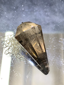 Smoky Quartz Pendulum - Faceted