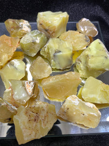 Yellow Opal Rough - 3 Stones