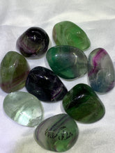Load image into Gallery viewer, Rainbow Fluorite Tumbled (Freeform) - Large